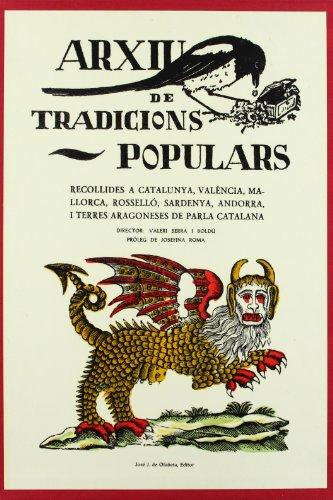 9788476511398: Arxiu De Tradicions Populars Recollides A Catalunya