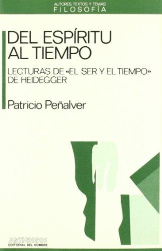 9788476581292: DEL ESPIRITU AL TIEMPO (Autores, Textos y Temas) (Spanish Edition)