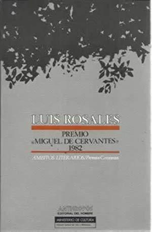 LUIS ROSALES - Premio Cervantes 1982: VARIOS