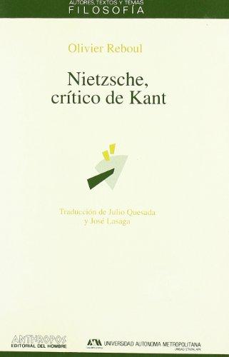 9788476583982: Nietzsche, Crítico De Kant (FILOSOFÍA)