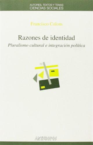 9788476585481: Razones De Identidad (CIENCIAS SOCIALES)