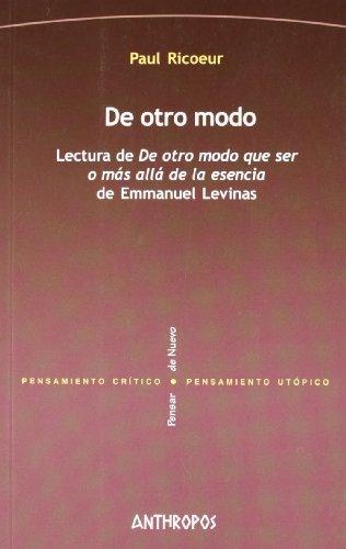 9788476585535: De Otro Modo. Lectura De