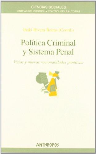 9788476587201: Política Criminal Y Sistema Penal (Ciencias Sociales)