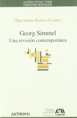 9788476588451: GEORG SIMMEL. UNA REVISION CONTEMPORANEA (Spanish Edition)