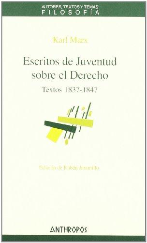 9788476588536: ESCRITOS DE JUVENTUD SOBRE EL DERECHO (Spanish Edition)