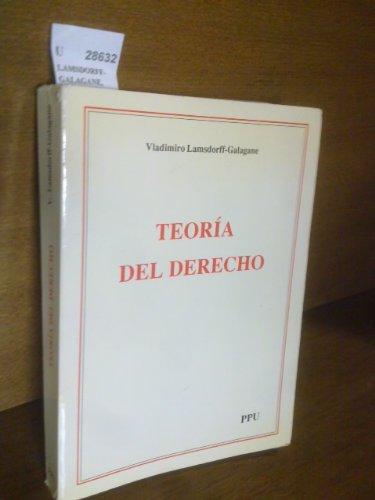 9788476654811: Teoría del derecho (Spanish Edition)
