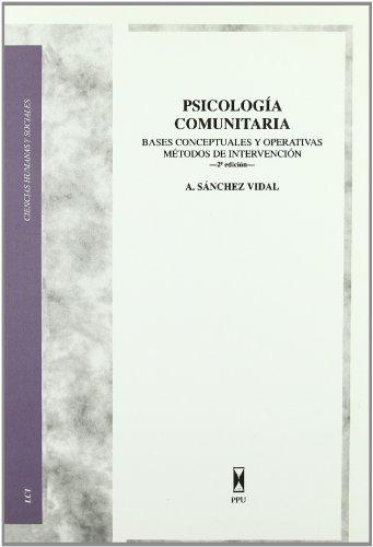 Psicología comunitaria: Sánchez Vidal, Alipio