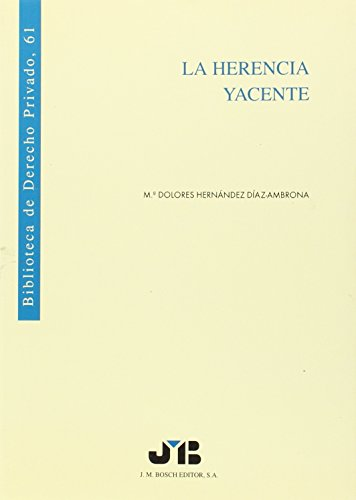 9788476983423: HERENCIA YACENTE