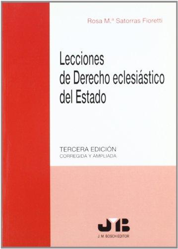 9788476987230: Lecciones de Derecho eclesiástico del Estado.