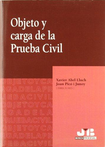 9788476987759: Objeto y Carga de la Prueba Civil.