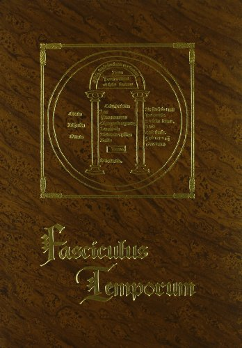 FASCICULUS TEMPORUM. COMPENDIO CRONOLOGICO. FACSIMIL (1481), TRANSCRIPCION: ROLEWINCK, WERNERIUS