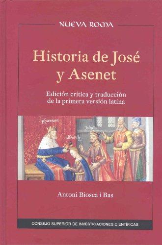 9788477230588: Historia de José y Asenet [Nov 19, 2012] Biosca i Bas, Antoni