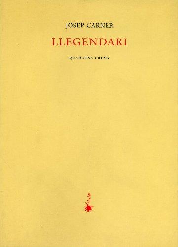 9788477272427: Llegendari (Poesia dels Quaderns Crema)