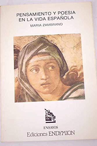 9788477310006: Pensamiento y poesia en la vida espanola (Ensayos) (Spanish Edition)