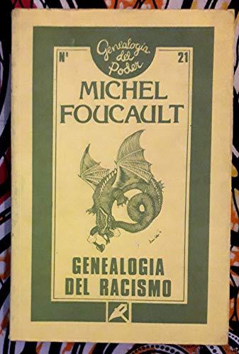 9788477311300: Genealogía del racismo (Genealogía del poder (Ediciones de la Piqueta))