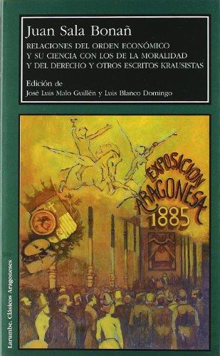 Relaciones del orden económico y su ciencia: Juan Sala Bonañ;