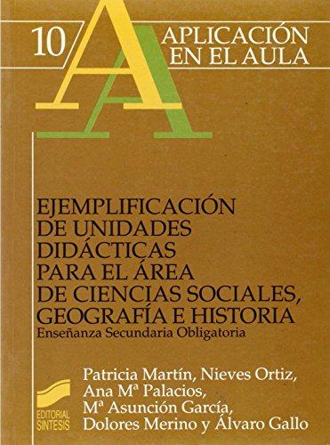 Ejemplificación de unidades didácticas para el área: Martín Martín, Patricia