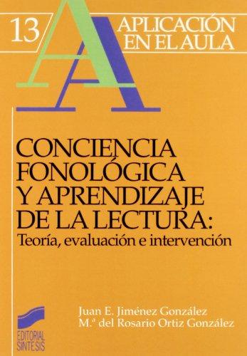 Conciencia Fonologica y Aprendizaje de La Lectura: Jimenez Gonzalez, Juan