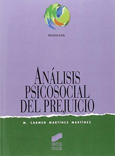 9788477383901: Analisis Psicosocial del Prejuicio (Spanish Edition)