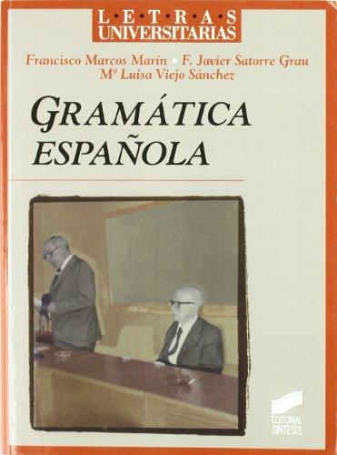 9788477385974: Gramática española: 20 (Letras universitarias)