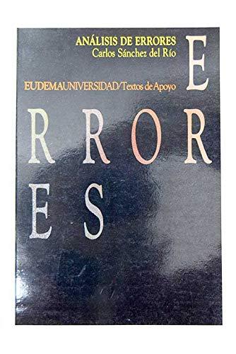 9788477540366: Analisis de errores
