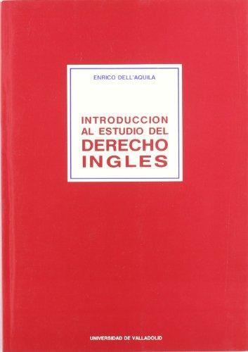 9788477622109: Introduccion Al Estudio Del Derecho Ingles