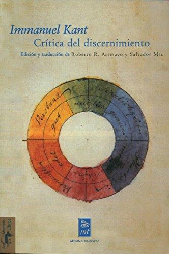 Crítica del discernimiento : (con estudio preliminar,: Immanuel Kant