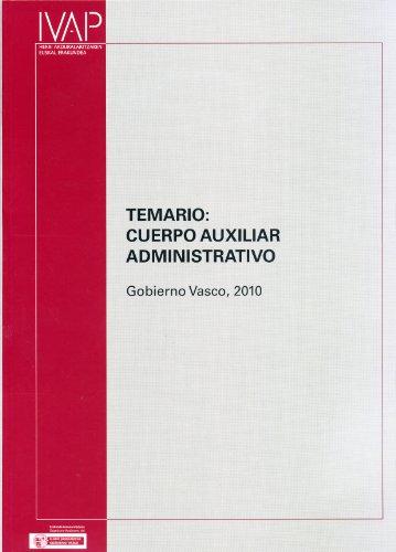 9788477773580: Auxiliares administrativos gobierno Vasco 2010 - temario (Oposiciones / Oposaketak)