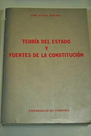 9788478010318: Teoría del Estado y fuentes de la Constitución: Introducción a la teoría de la Constitución (Textos e instrumentos) (Spanish Edition)
