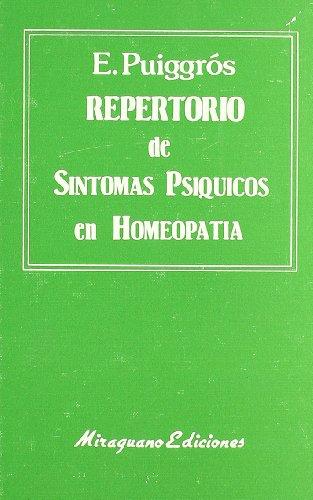 9788478130313: Repertorio de Síntomas Psíquicos en Homeopatía (Medicinas Blandas)