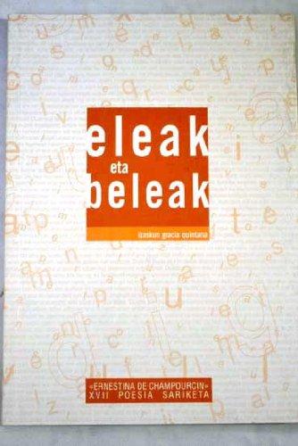 9788478216833: Eleak Eta Beleak