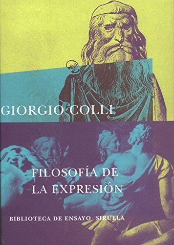 9788478442706: Filosofia de la expresion/ Philosophy of Expression (Biblioteca De Ensayo: Serie Mayor) (Spanish Edition)