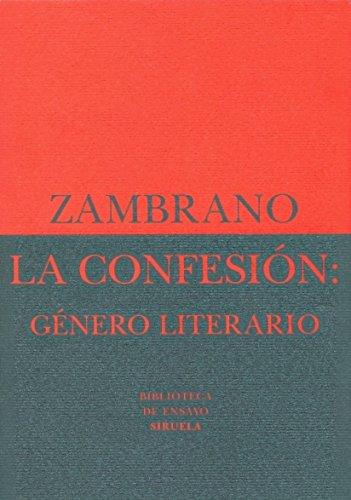9788478442850: La confesión: género literario (Biblioteca de Ensayo / Serie menor)