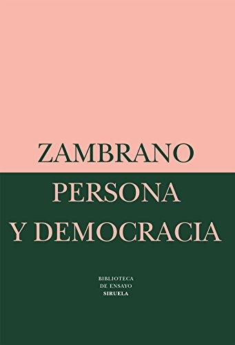 9788478443147: Persona y democracia/ Person and democracy: La Historia Sacrificial (Biblioteca De Ensayo: Serie Mayor) (Spanish Edition)