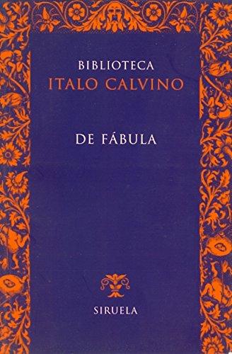 9788478444120: De fabula (Biblioteca Calvino / Calvino's Library) (Spanish Edition)