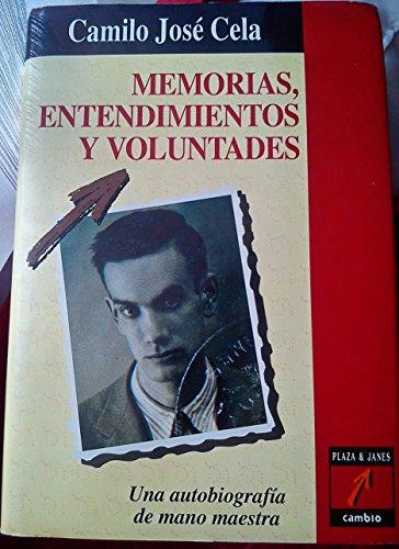 9788478630370: Memorias, entendimientos y voluntades (Spanish Edition)