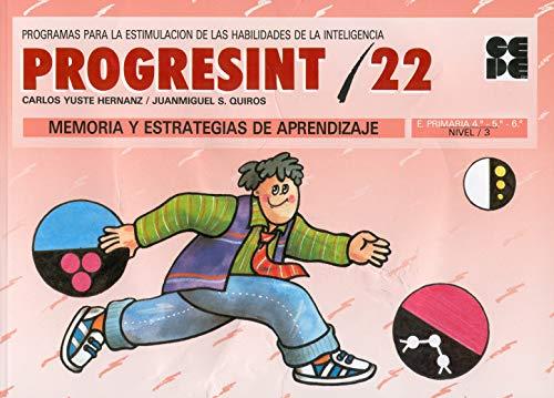 9788478691104: Progresint 22 - Memoria y Estrategias de Aprendiza (Spanish Edition)