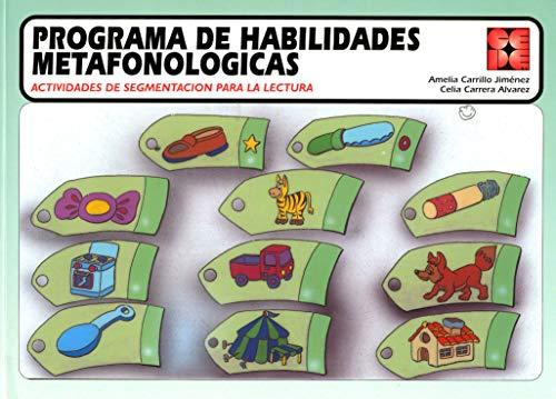9788478691289: Programa de habilidades metafonologicas (Reeducacion Logopedica)