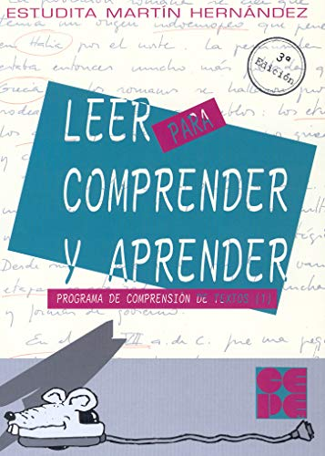 9788478691333: Leer para comprender y aprender. 1 (Programas Intervencion Educati)