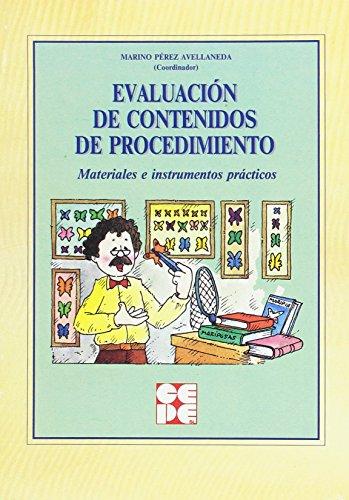 9788478692361: Evaluación de contenidos de procedimiento: Materiales e instrumentos prácticos (Propuestas curriculares)