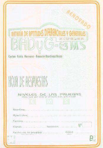 9788478692675: Badyg E3/M/S Hoja de respuesta paquete de 25 (Instrumentos Evaluacion)