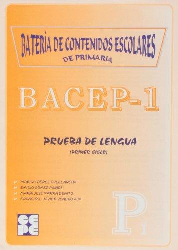 9788478693450: Bacep 1. Prueba de lengua