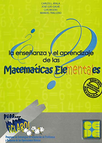 9788478696536: Enseñanza y aprendizaje de las matemáticas elementales