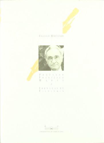 FRANCISCO MARSA. JORNADAS DE FILOLOGIA