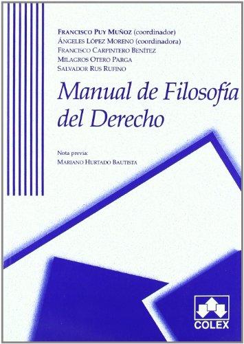 9788478795772: Manual de filosofia del derecho