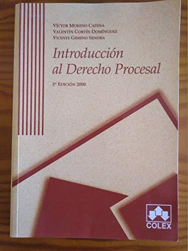 Introducción al Derecho Procesal: Víctor Moreno Catena,
