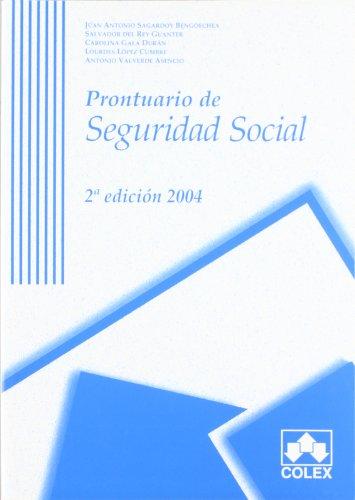 9788478798612: Prontuario de la seguridad social 2ª ed.