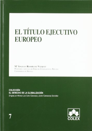 9788478799299: TITULO EJECUTIVO EUROPEO, EL