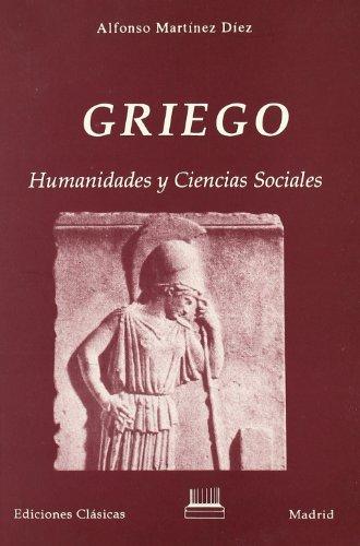 """Griego""""Humanidades y ciencias sociales"""": Alfonso Martinez Díez"""