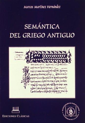 9788478823048: Semántica del griego antiguo